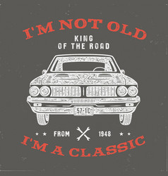 70 birthday anniversary gift t-shirt i m not old vector