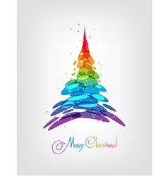 Abstract multicolored Christmas tree vector image
