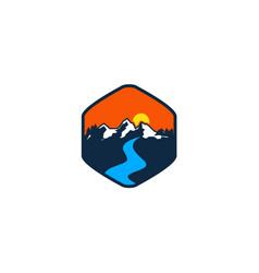 Adventure mountain vector