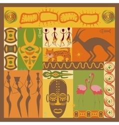 African ethnic vector image vector image