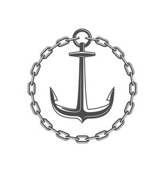 anchor and circular chain vector image