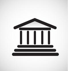 architecture column building icon vector image