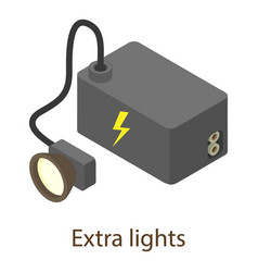 Battery icon isometric style vector
