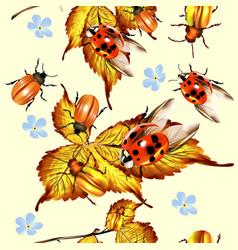 beautiful seamless pattern with foliage vector image