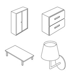 bedroom and room symbol vector image