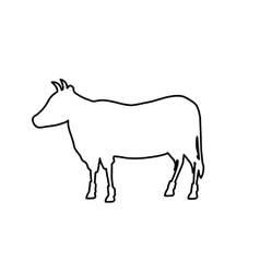 Beef meal silhouette vector image