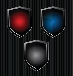 black shield retro vintage black design vector image