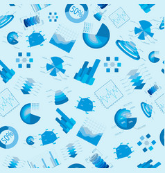 blue diagramms seamless pattern vector image