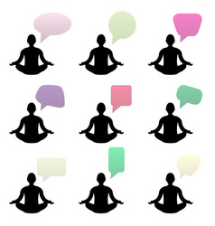 Buddha talks empty bubbles fot your text eps10 vector