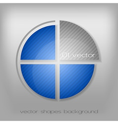 business circle gray blue vector image