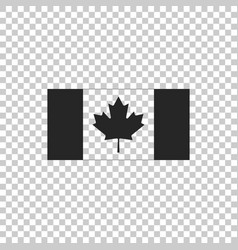 canada flag icon on transparent background vector image