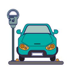 Car on park zone vector