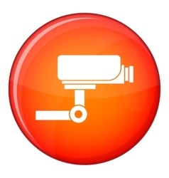 CCTV camera icon flat style vector