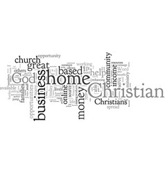 Christian home based business vector