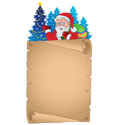Christmas thematic parchment 4 vector