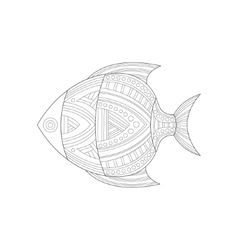 Cool Tropical Fish Sea Underwater Nature Adult vector image