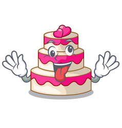 crazy wedding cake isolated with the mascot vector image