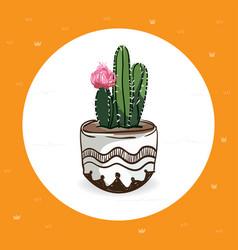 cute cactus vector image