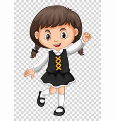 cute girl on transparent background vector image