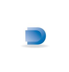 d letter 3d logo design vector image