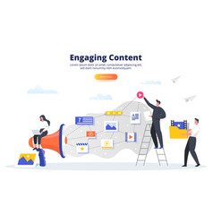 Engaging content business concept blogging smm vector