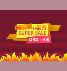 exclusive products super sale special offer poster vector image