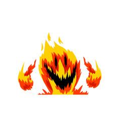 Fire monster fantasy mystic creature cartoon vector