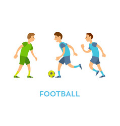 football team youth playing game outdoors vector image