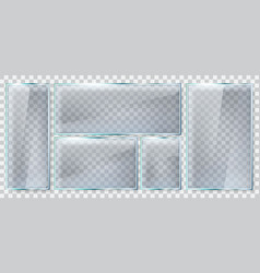 glass brightness frame realistic plate vector image