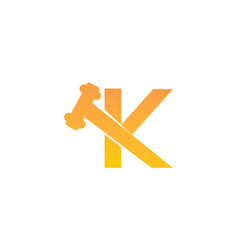 global online auction letter k vector image