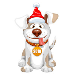 happy dog vector image