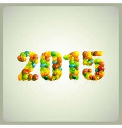 happy new 2015 year holiday background vector image