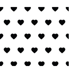 heart background seamless love background black vector image