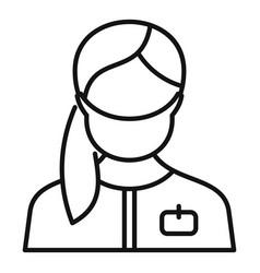 Hospital nurse icon outline style vector