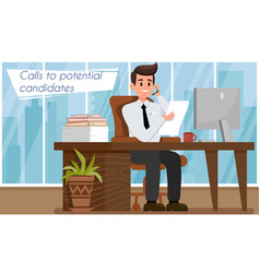 Hr agency concept flat vector