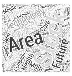 Invest in Technology Final Word Cloud Concept vector