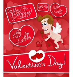 Love cupid Valentine s Day vector image