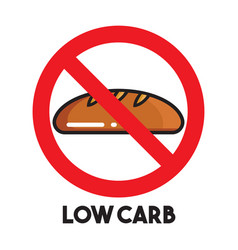 Low carb sign vector