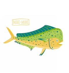 Mahi-mahi vector image vector image