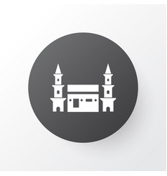 Mecca icon symbol premium quality isolated hejaz vector