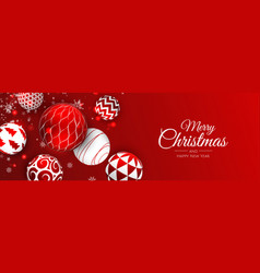 Merry christmas web banner background for vector