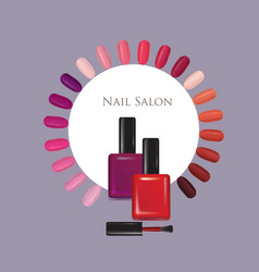 Nail beauty salon background manicure nails vector