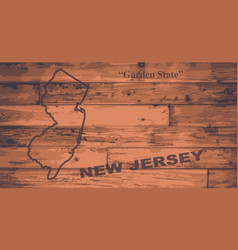 New jersey map brand vector