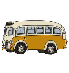 old yellow bus vector image