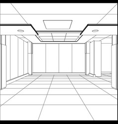 outline office room eps 10 format vector image