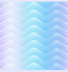 pastel color wave seamless pattern vector image