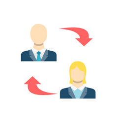 peer to peer related icon vector image