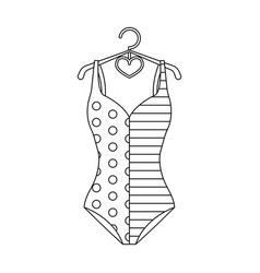 Plaid swimsuit in red and underwear for swimming vector