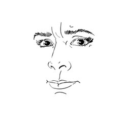 portrait of irate woman of vector image