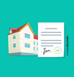 Real estate contract or agreement to loan vector